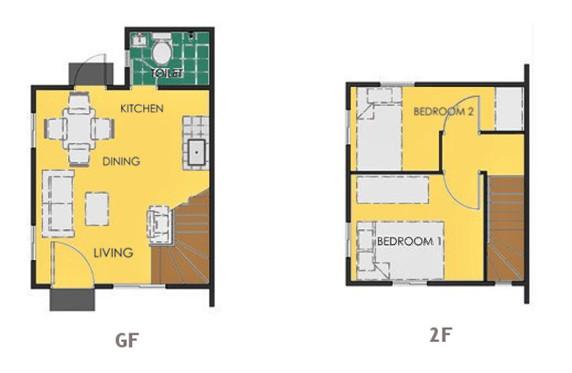 Ravena Floor Plan House and Lot in Trece Martires