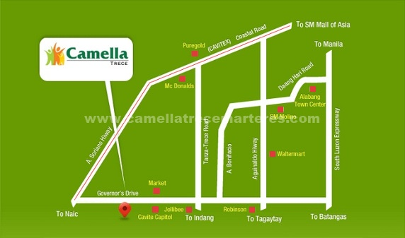 Camella Trece Martires Location and Amenities