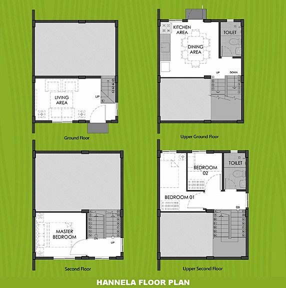 Hannela Floor Plan House and Lot in Trece Martires