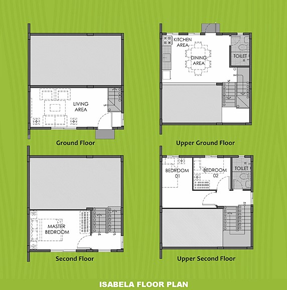 Isabela Floor Plan House and Lot in Trece Martires