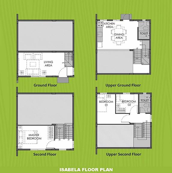 Isabela Floor Plan House and Lot in Trece Martires