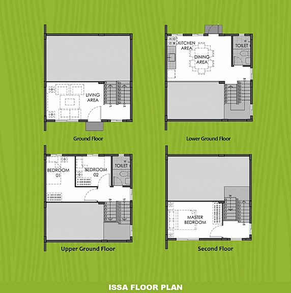 Issa Floor Plan House and Lot in Trece Martires