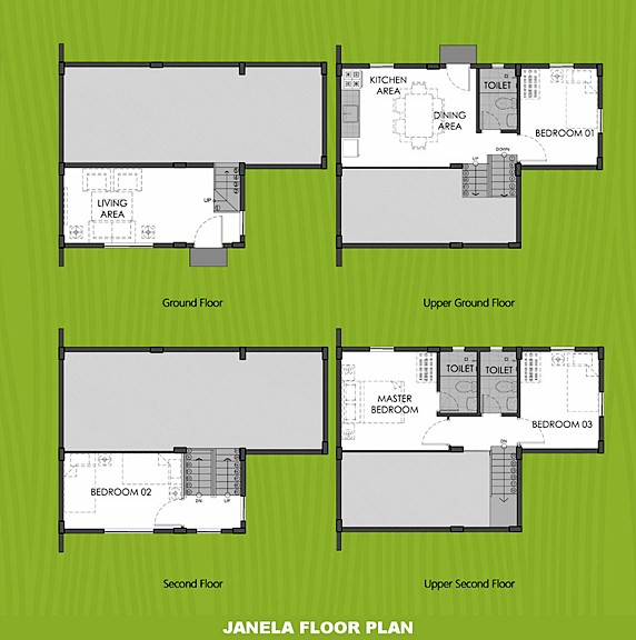 Janela Floor Plan House and Lot in Trece Martires