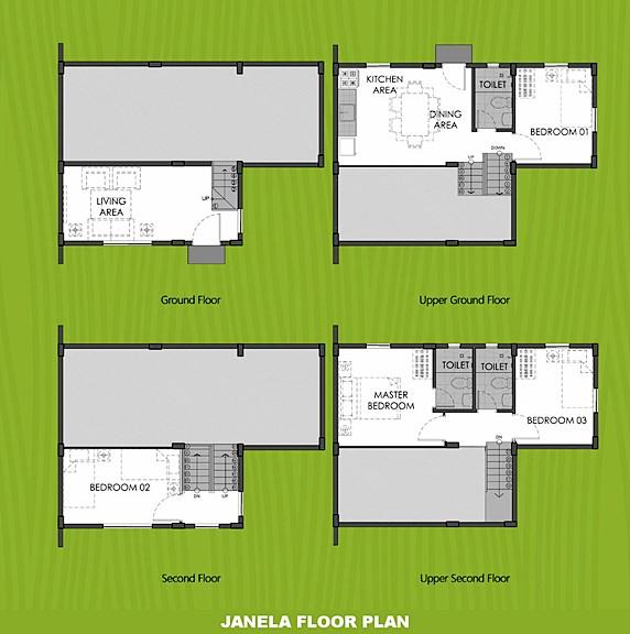 Janela Floor Plan House and Lot in Trece Martires