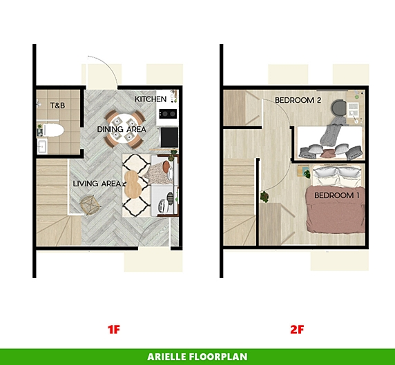 Arielle Floor Plan House and Lot in Trece Martires