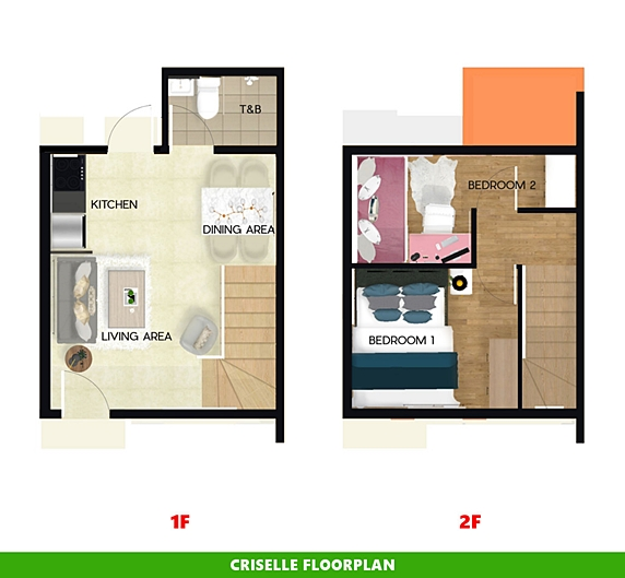 Criselle Floor Plan House and Lot in Trece Martires