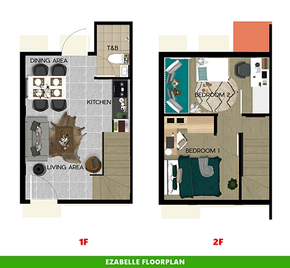 Ezabelle Floor Plan House and Lot in Trece Martires